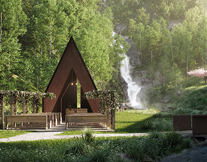 Waterfall Park ArchViz + Parallax Animation