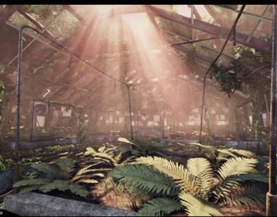 Overgrown Greenhouse Environment