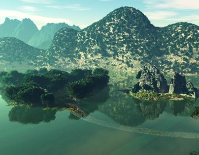 3D Environment Project _ Trang An, Vietnam
