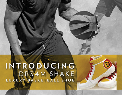 DR34M SHAKE Luxury Basketball Shoe Brochure