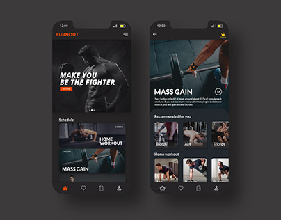 BurnOut - Fitness Web App Design