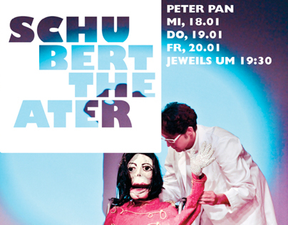 """Logo and print media for the """"Schubert Theater Wien"""""""