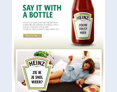 Say it with a personalized Heinz bottle