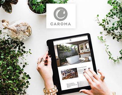 CAROMA . Branding Refresh . Web Design (UX/UI)