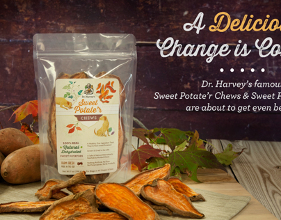 Dr. Harvey's | Sweet Potate'r Chews Packaging