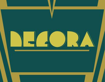 Decora - Art Deco inspired typeface