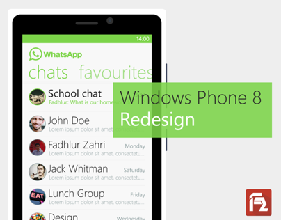 WhatsApp for WP8 Redesign