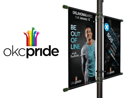 OKC Pride Light-Pole Banners
