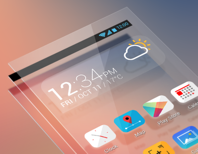 Stratum / mobile theme design for 360 iLauncher