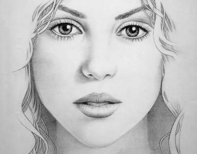 Shakira - Pencil Drawing