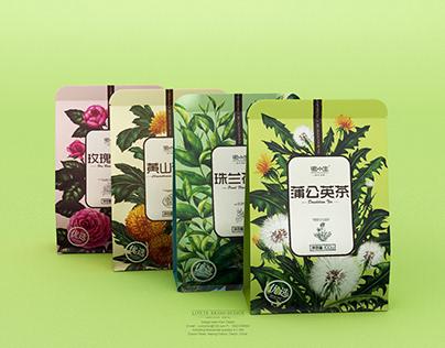 【徽小生·珠兰花·蒲公英】花茶包装 Tea Packaging
