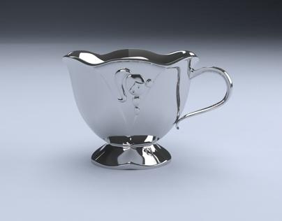 Pewter Thumbelina Mug   3D Modeling