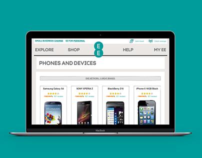 EE Merger With T-Mobile & Orange Ecommerce UX Design