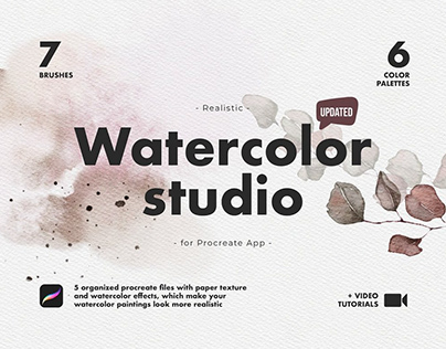 Realistic Procreate Watercolor Kit