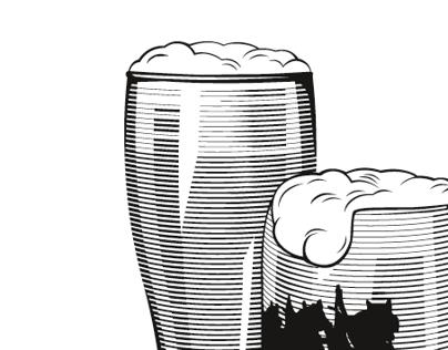 "Illustration for ""Caspary Brau"" Brewery&Restaurant"