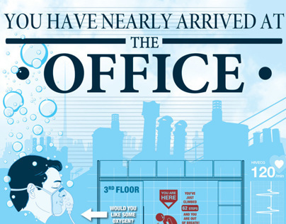'You have nearly arrived at the office' Infographic