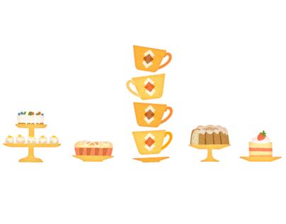 Tea & Cake illustrations