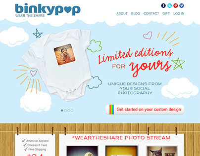 Binkypop E-Commerce Website Design