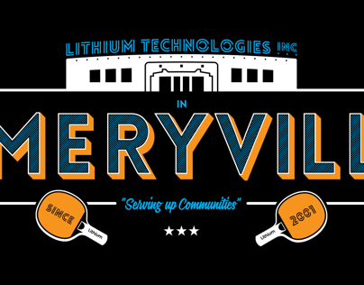 Emeryville T-shirt for Lithium Technologies
