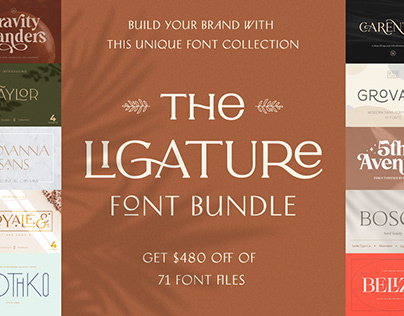 THE LIGATURE FONT BUNDLE - 94% OFF