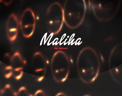 Maliha One Page PSD
