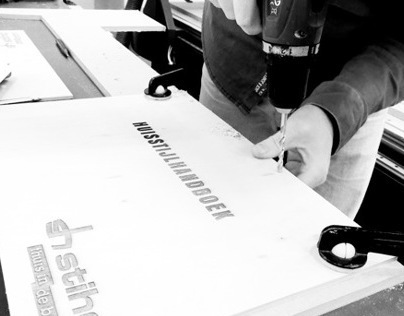 Laser engraved corporate identity book