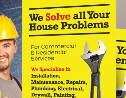 Handyman Services Flyers On Behance