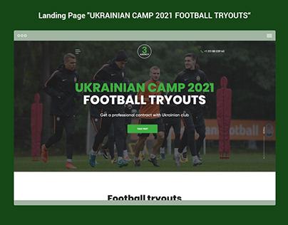 "Landing Page ""UKRAINIAN CAMP 2021 FOOTBALL TRYOUTS"""
