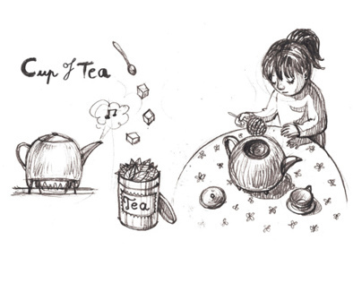 Cup of Tea - silent comic