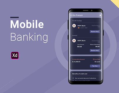 Mobile Banking | Credit Card | Loan | UX/UI design