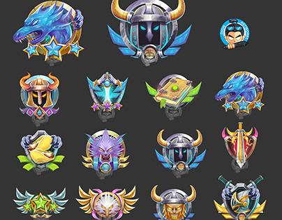 RPG Game Achievement Badges