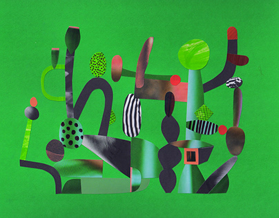 Personal work: Abstract collages