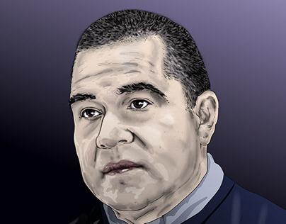 Vector Portrait of Professor Jose Luis Fougo