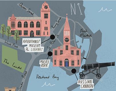 Peterhead Illustrated Map