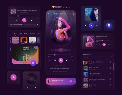Music mobile app | UI Components