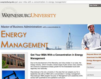 Landing Page - Energy Management MBA