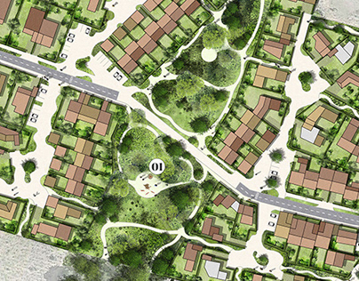 Landscape Architecture - Urban Design Plan Rendering