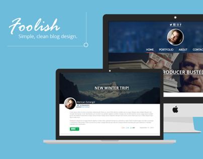Foolish - Blog Design