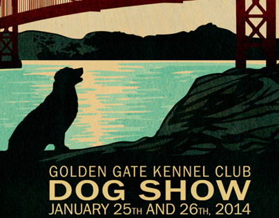 Golden Gate Kennel Club Dog Show Poster