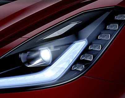 2014 Corvette Headlamp