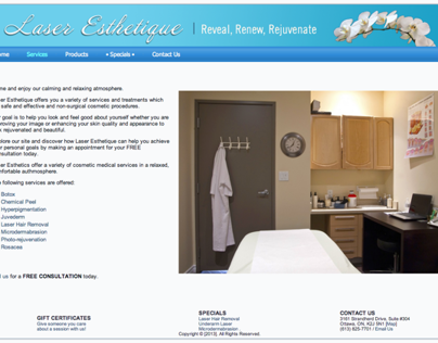 Laser Esthetique, Website
