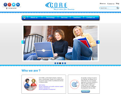 Website Templates for Core Computer India Redesign