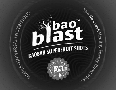BaoBlast Brand Logo + Label Design