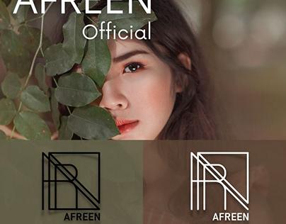 Name logo for Afreen