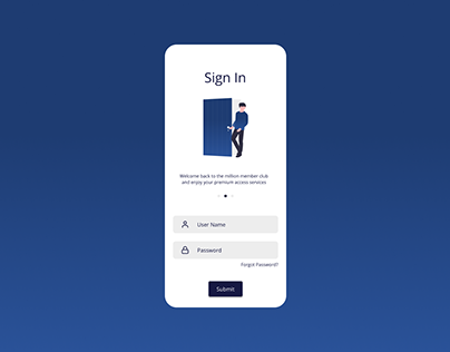 Mobile UI - Sign In