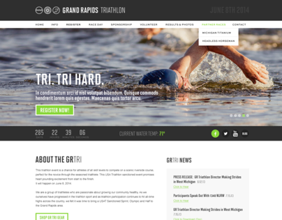 Grand Rapids Triathlon Identity & Website