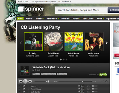 Spotify Player Integration on Spinner Canada