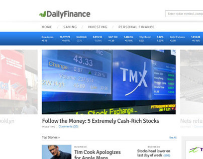 Daily Finance Redesign