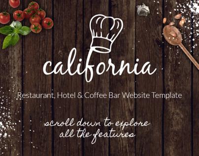 California - Restaurant Hotel Coffee Bar Site Template