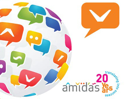 Amidas (20 years) - flyer and t-shirt design